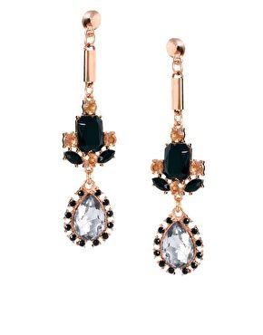 ASOS Luxury Spike Gem Drop Earrings