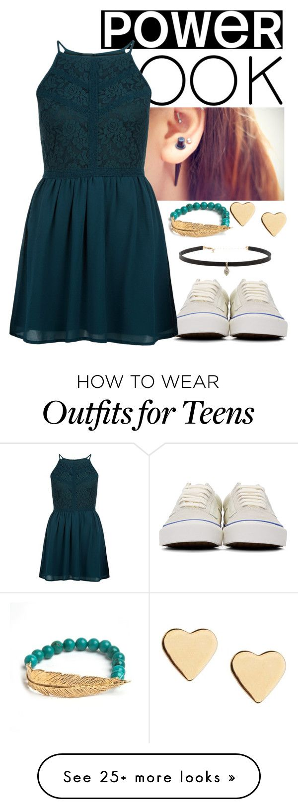 """""""Party"""" by i-m-penguin-purple974 on Polyvore featuring Vans, New Look, LeiVanKash, Lipsy, Carbon & Hyde, Nelly, vans, partydress and powerlook"""