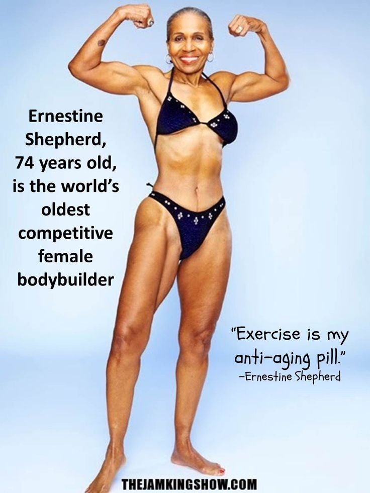 Ernestine Shepherd at 74 is the world's oldest competitive female bodybuilder.