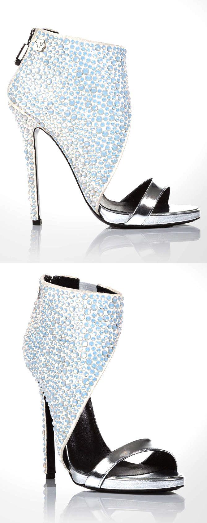 "Philipp Plein ~ ""Futura"" Sandals with glittering rhinestones 2015"