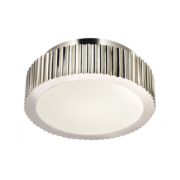 $570 Modern Flushmount Light in Polished Nickel Finish | 4628.35 | Destination Lighting