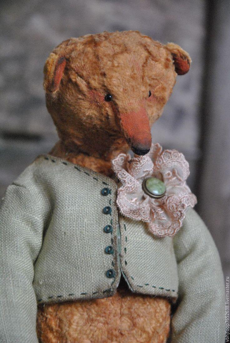 Купить ALVIN - коричневый, Плюшевый мишка, винтажный медведь, авторская работа, ручная работа