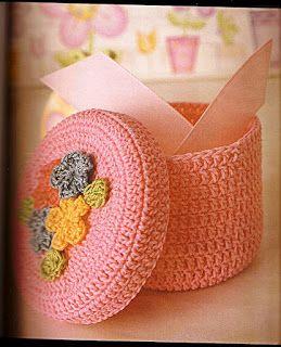 Solo esquemas y diseños de crochet: CAJITA DE RECUERDOS