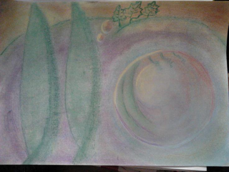 Jegenyék. Pasztell A4 Papír. Artist: Balogh Krisztina