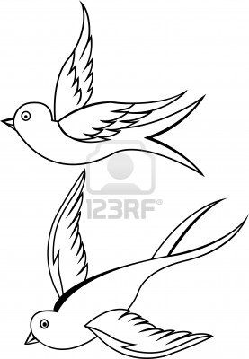 Free Swallow Bird cartoon images | Free Pictures Of Sparrow Bird Tattoos