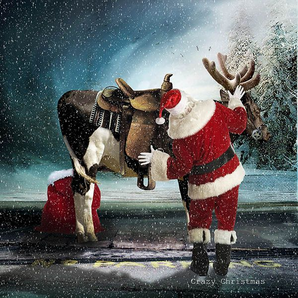 Crazy Christmas #art #digital #scrapbook #digitalcollage #digital #photshop #photomanipulation