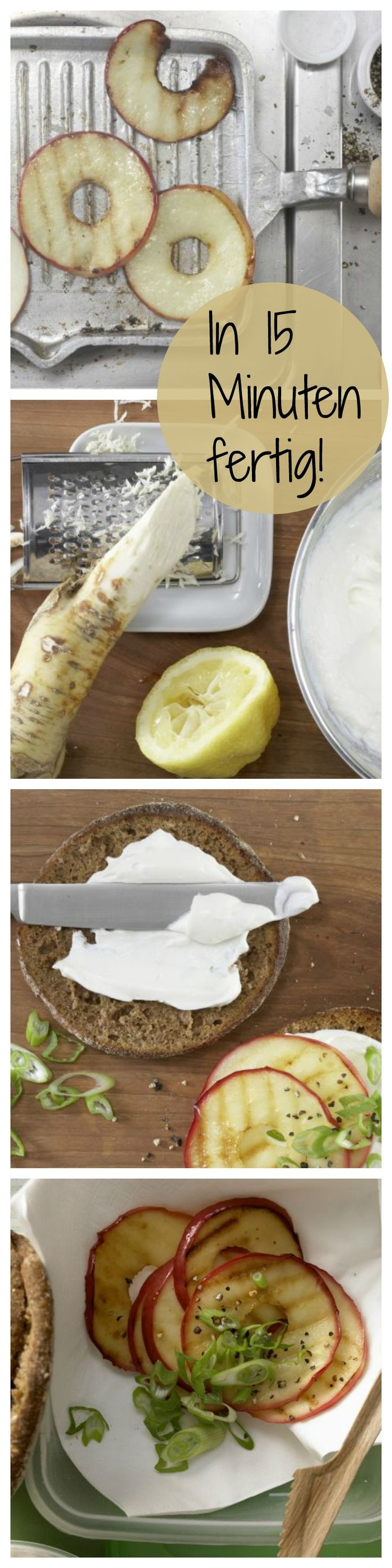 Die perfekte Kombination aus würzig und süß Fruchtig pikantes Quarkbrötchen mit würzigem Meerrettich und