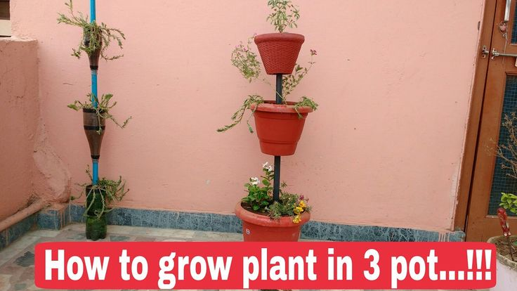 How to make flower tower at home, How to make vertical garden at home, The One Page 3 Pot special - YouTube