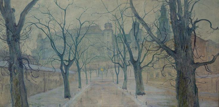 Stanisław Wyspiański- Planty o świcie, 1894 / Materiały Muzeum Narodowego