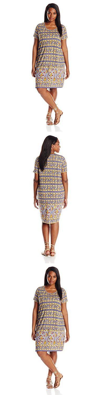 Lucky Brand Women's Plus Size Paisley Print Dress, Multi, 3X