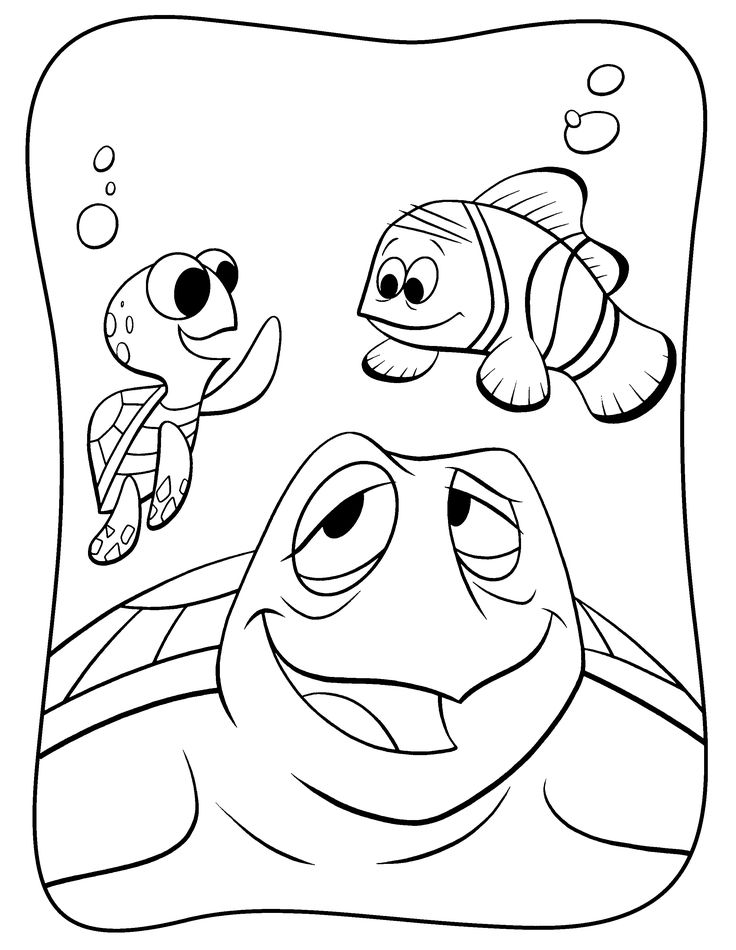 finding nemo more coloring pages - Crush Finding Nemo Coloring Pages