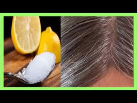Elimina las canas con aceite de coco y limón, y recupera el color natural de tu cabello!!! - YouTube