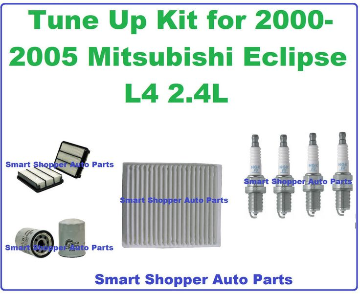 Tune Up Kit for 2000-2005 Mitsubishi Eclipse:  Spark Plug Air, Cabin, Oil Filter #AftermarketProducts