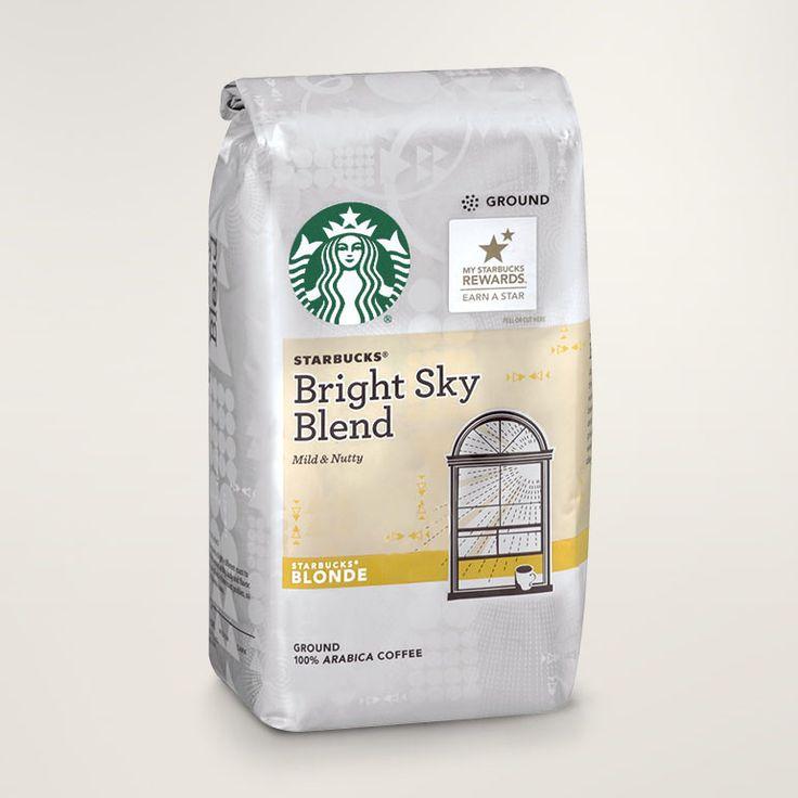 Starbucks® Bright Sky blonde roast whole bean and ground coffee bag