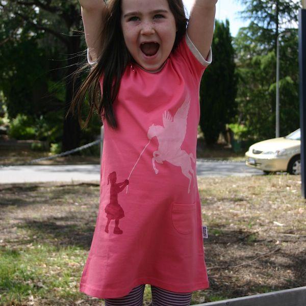 "Keani looking so happy in her ""Pegasus Training"" dress."