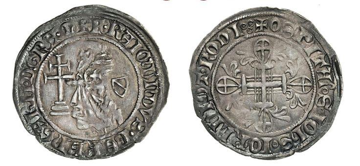 NumisBids: Numismatica Varesi s.a.s. Auction 67, Lot 486 : RODI RAYMOND BERENGER (1365-1374) Gigliato. D/ Il Gran Maestro...