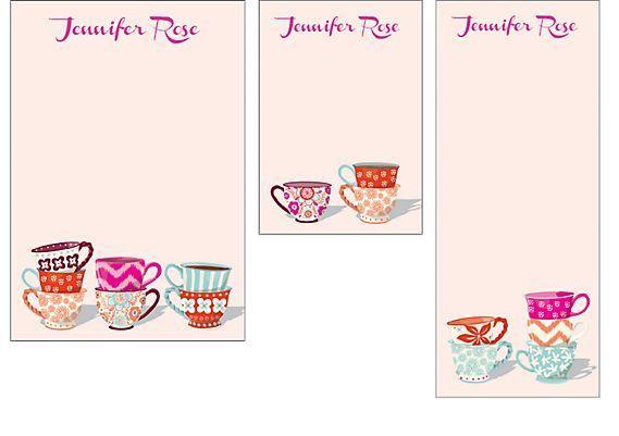 Персонализировать Чайные Чашки Смешанных Персонализированные Блокноты   Источник Бумаги