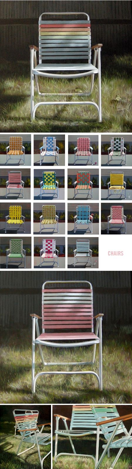 """chairs"" - oil paintings by cindy rizza <3"