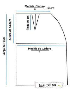 Resultado de imagen para moldes polleras tubo para gorditas