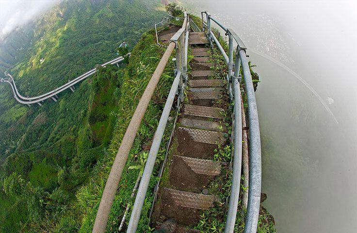 NewPix.ru - Лестница Хайку на острове Оаху