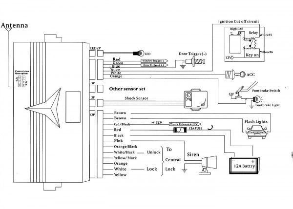 Car Alarm Installation Wiring Diagram Car Alarm Viper Car Alarm