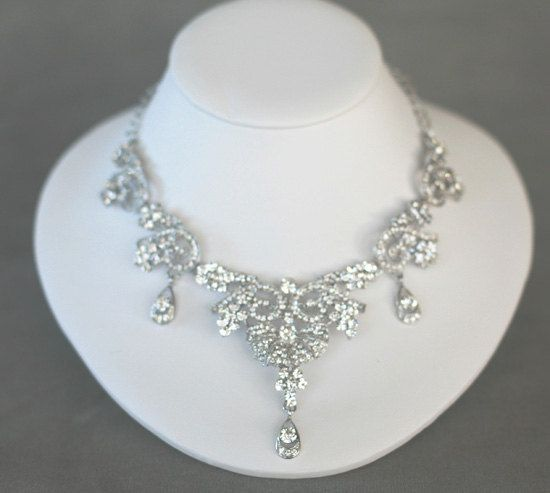 Bridal Necklace  Wedding Jewelry  bridal Accessory  by Lolambridal, $129.00