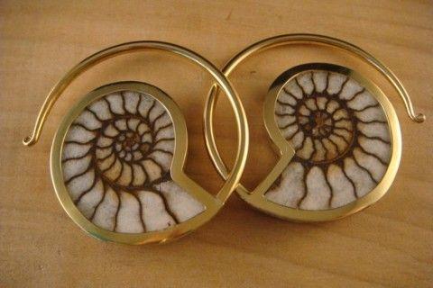 Ammonite Hoops | Quetzalli Jewelry