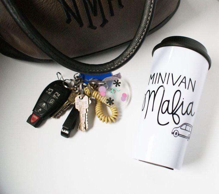 Because moms have a sense of humor too! Minivan Mafia Travel Mug