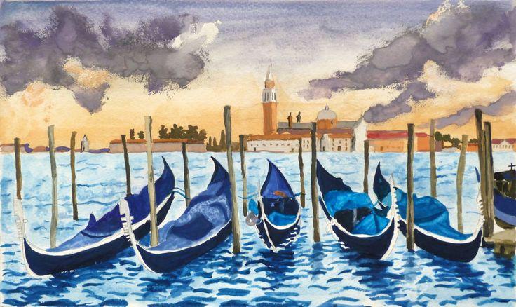 Ez a velencei látkép is a rajz és jógatárborban készült! #rajzesjogatabor