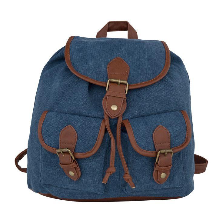 Handig om kleine spulletjes in mee te nemen: dit blauwe rugzakje! Hij is verkrijgbaar in diverse kleuren en met verschillende dessins.