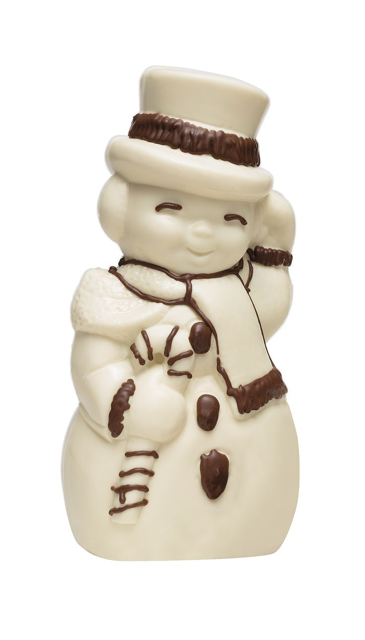 Charming chocolate snowmen in various sizes from a collection of seasonal sweets, $2.00 to $75.00. Schakolad Chocolate Factory | 703.504.2200
