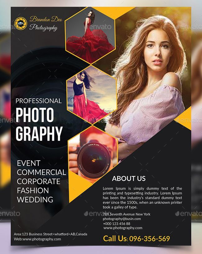 100 fashion photography flyer photography flyer corporate style and template. Black Bedroom Furniture Sets. Home Design Ideas