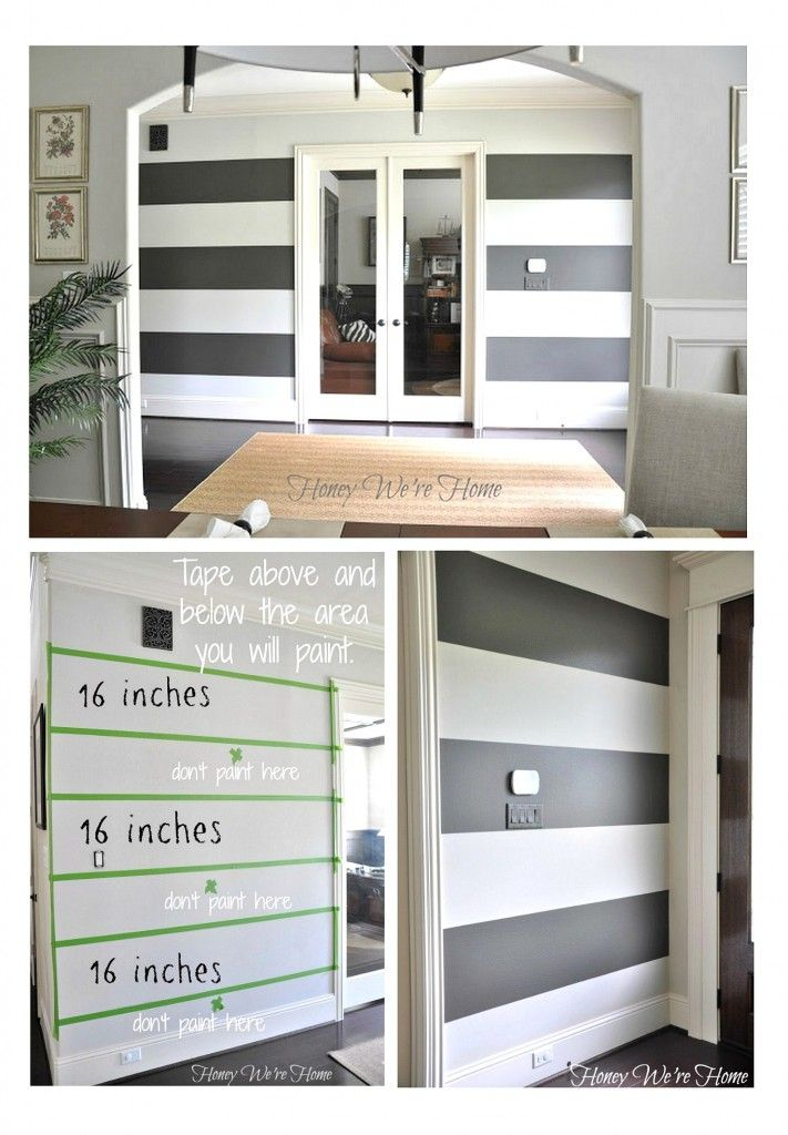 Painted Stripe Wall Ideas {Paint It Monday} The Creativity Exchange