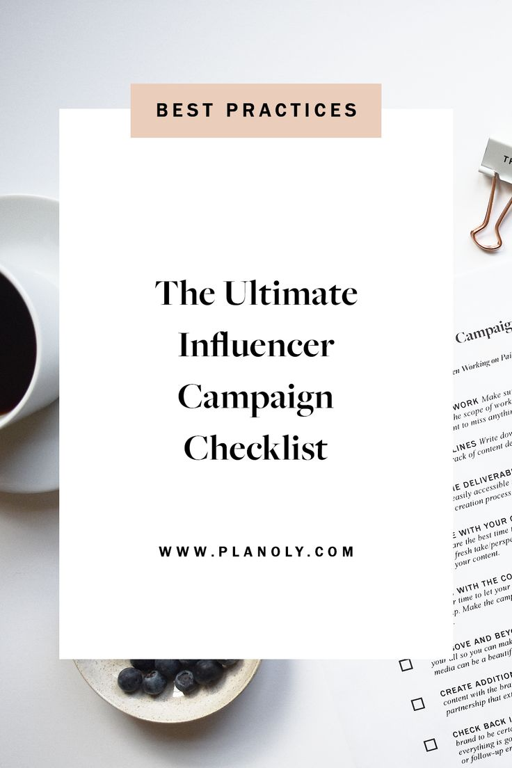 The Ultimate Influencer Campaign Checklist Campaign