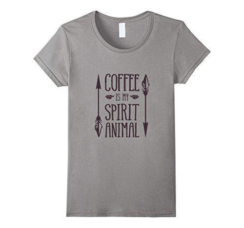 Women's Coffee is my Spirit Animal Tee Funny T-Shirt Medi...