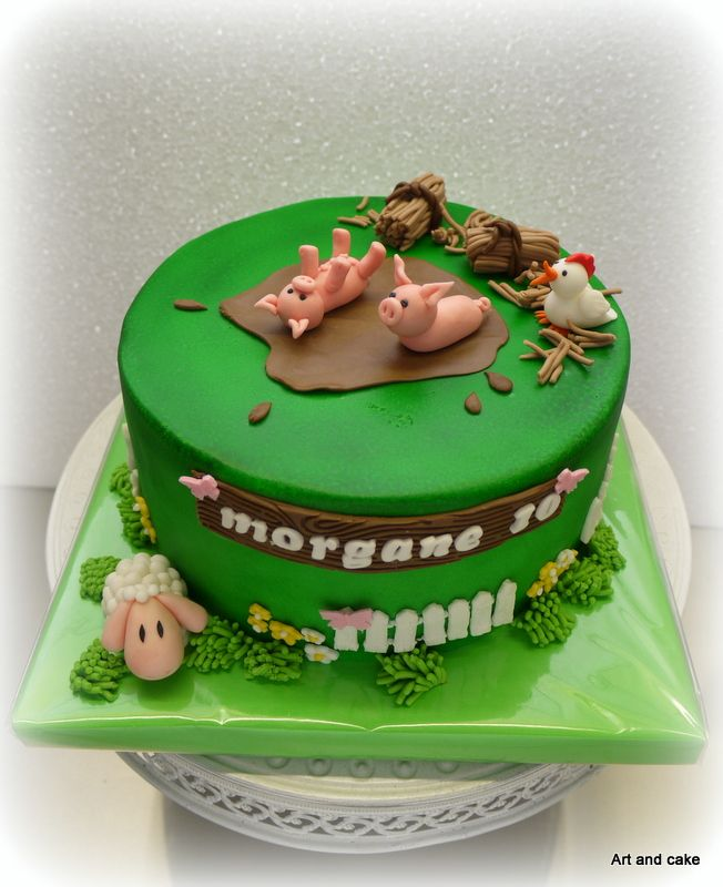 Boerderijdieren taart. made by Art and cake