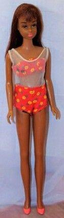 Barbielist Holland® 1966-2016 Francie Fairchild™, Barbie™'s Modern Cousin, Automattic Inc.® Wordpress © Aug 1, 2016 [Black Francie® No. 1 in Found in Floral™ Swimsuit ©1967 'Trouvé en floral™' -'Cherchez la Femme']
