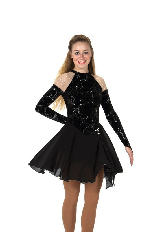 New Jerrys Skating Ice Dance Dress 135 Sheer Shoulders Made on Order Youth Adult | eBay