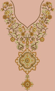 V giogo al collo a forma di abiti da sposa salwar