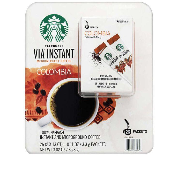 Starbucks via instant coffee colombia 26count medium