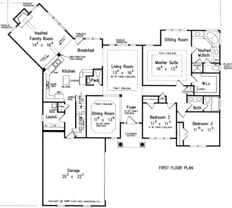 1000 images about floor plans on pinterest house plans for Single story open floor plans