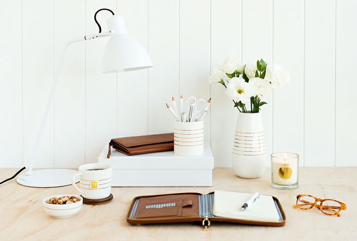 Set up a stylish and unique workspace with these kikki.K porcelain Canisters. www.kikki-k.com