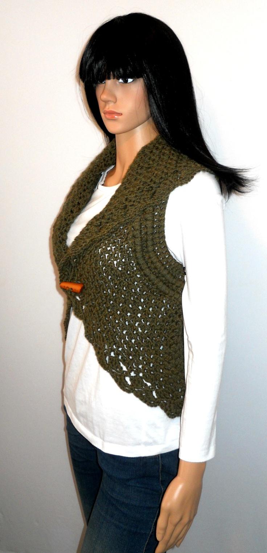 Free Crochet Vest Patterns Plus Size: Vest crochet pattern for small ...