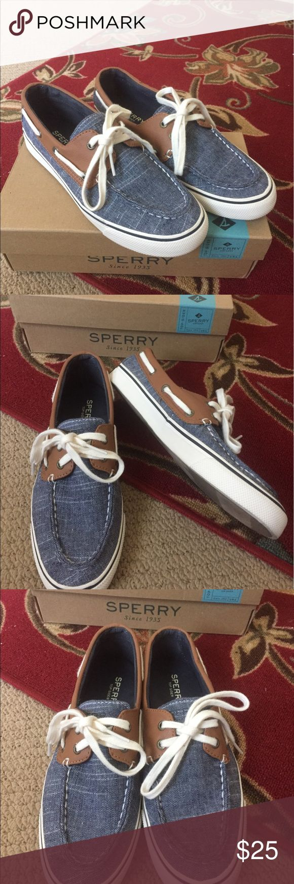 CUTE Sperry Top Sider Shoes, 6.5, Like NEW!! CUTE Sperry Top Sider Shoes, 6.5, Like NEW!! CUTE Sperry Top Sider Shoes, 6.5, Like NEW!! Color: : Biscayne, Chambray & White. Slip on with tie. Super CUTE ~ worn once ~ absolutely PERFECT! Sperry Top-Sider Shoes Flats & Loafers