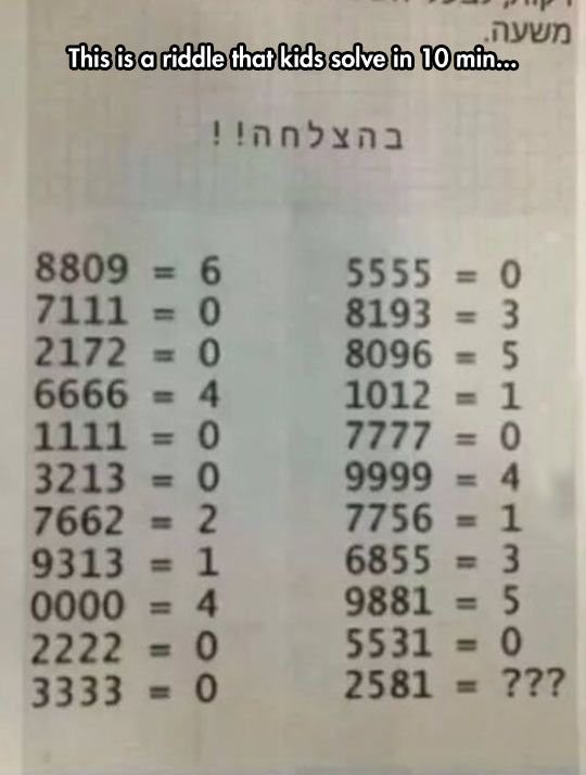 Try To Solve It. It took my longer than 10 minutes, but I did get it..... O