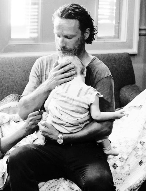 #andrew lincoln #rick Grimes #judith #season 5 #the walking dead