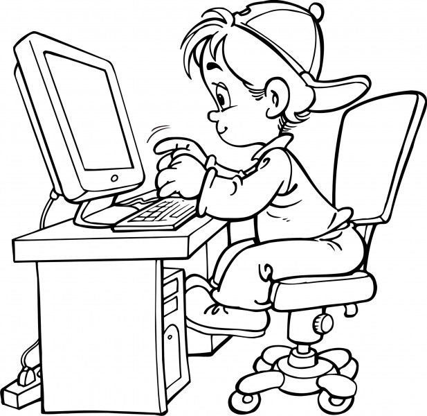 Computer Coloring Pages Best Coloring Pages For Kids Kids Computer Coloring Pages For Kids Computer Drawing