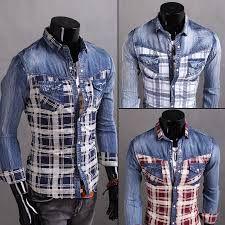 Resultado de imagen para camisa manga tres cuartos para hombre