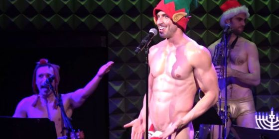 WATCH: Sexy Broadway star Nick Adams sings about touching his elf