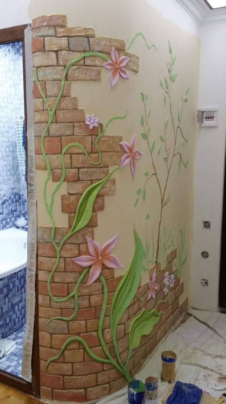 Best 25 3d wall painting ideas on pinterest brick wallpaper outside sauna wall brick work amipublicfo Gallery